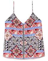 L'Agence Jane Paisley Print V-Neck Camisole