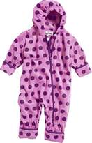 Playshoes Unisex Baby All-in-One Fleeceoverall Dots Overall,6-9 Months (Manufacturer Size:74 cm)