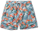 Saturdays NYC Timothy Mid-Length Printed Swim Shorts