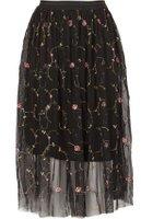 Dorothy Perkins Womens *Tenki Black Knee Length Skirt- Black