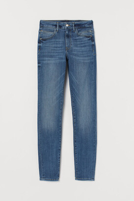 H&M Push-up Shaping High Jeans - Blue