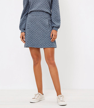 LOFT Petite Quilted Shift Skirt