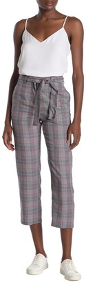 Cotton On Shannon Plaid Paperbag Waist Tie Pants