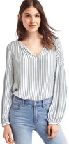 Gap Split-neck long sleeve blouse
