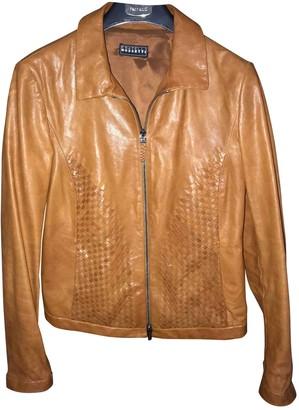 Fratelli Rossetti Camel Leather Leather jackets