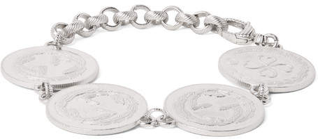 Gucci Rhodium-Plated Coin Bracelet
