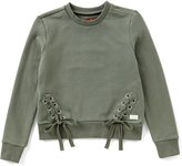 7 For All Mankind Big Girls 7-14 Lace-Up Long-Sleeve Top