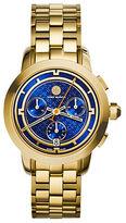 Tory Burch Tory Chronograph Goldtone Stainless Steel Bracelet Watch/Blue