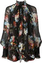 Erdem floral-print pussy bow blouse