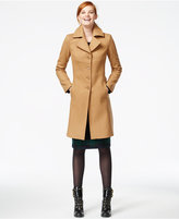 Tommy Hilfiger Topstitched Wool Walker Coat