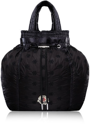 Moncler Genius Parachute Drawstring Floral-Embroidered Shell Backpack
