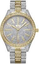 JBW Women's Cristal Diamond 39mm Two Tone Steel Case Swiss Quartz Watch J6346d