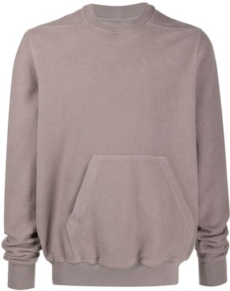 Rick Owens Kangaroo-Pocket Fleece Jumper