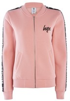Hype **Dusty Pink Justhype Taping Bomber Jacket