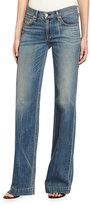 Rag & Bone Wide-Leg Denim Jeans, Brick Lane