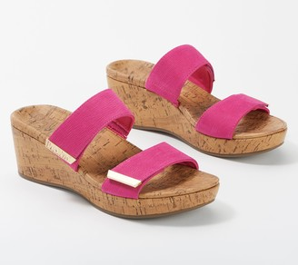 Vionic Slide Adjustable Platform Wedges - Pepper
