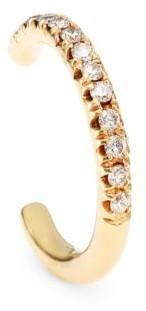 Zoë Chicco 14K Yellow Gold & Diamond Pave Single Ear Wire Cuff