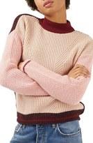 Topshop Women's Colorblock Sweater