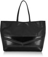 Karl Lagerfeld K Zip Cut paneled leather shopper