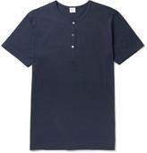 Sunspel Slim-fit Cotton-jersey Henley T-shirt
