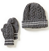 Starting Out Baby Boys Cable Knit Hat & Mittens Set