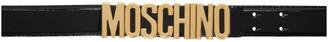 Moschino Black Classic Logo Belt