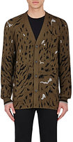 Lanvin MEN'S ABSTRACT-PATTERN ELONGATED CARDIGAN