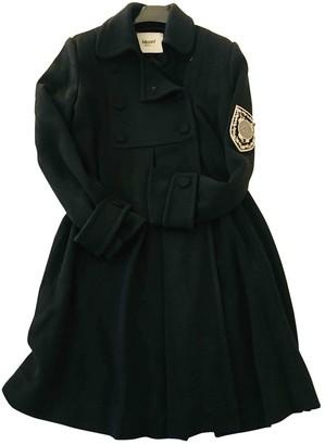 Blumarine Black Wool Coat for Women