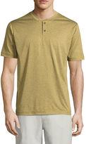 ST. JOHN'S BAY St. John's Bay Terra Tek Short Sleeve Henley Shirt