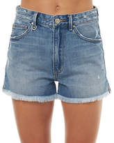 Neuw New Women's Womens Silverlake Short Cotton Fitted Blue