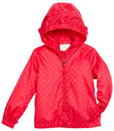 Gucci GG Jacquard Nylon Zip-Front Jacket w/ Hood, Size 4-12