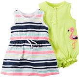 Carter's 2-pk. Flutter Sleeve Cotton Romper - Baby Girls newborn-24m