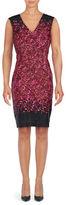 Cynthia Steffe Sleeveless Floral Sheath Dress