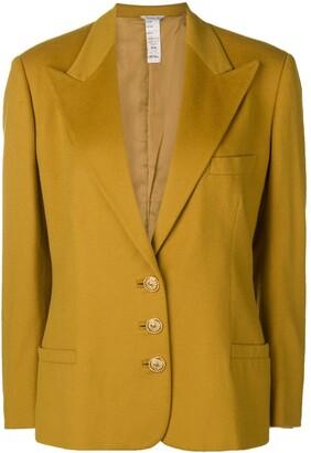 Versace Pre Owned 1980's Peaked Lapels Blazer