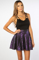 Motel The Libby Shimmer Box Pleated Skirt in Purple