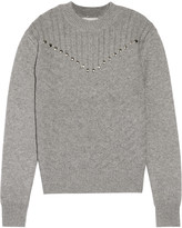Rebecca Minkoff Durand stud-embellished wool and cashmere-blend sweater