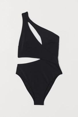 H&M Cut-out Swimsuit High Leg