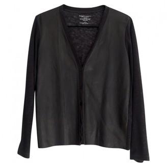Majestic Filatures Black Leather Knitwear for Women