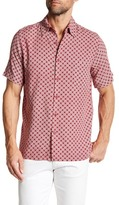Toscano Geo Flower Print Regular Fit Shirt