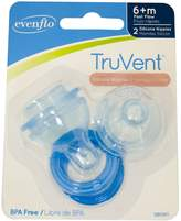 Evenflo 2 Pack TruVent Nipple and Ring, Medium Flow