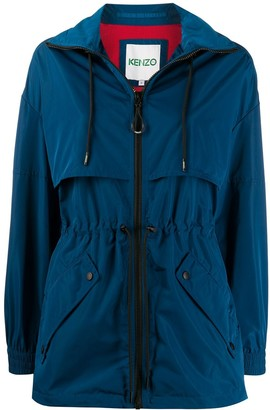 Kenzo Drawstring-Waist High Neck Coat