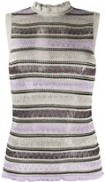 M Missoni zigzag pointelle-knit sleeveless top