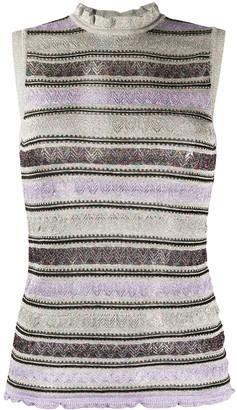 M Missoni Zigzag Pointelle-Knit Sleeveless Top