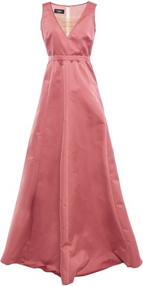 Rochas Tulle-trimmed Duchesse-satin Gown