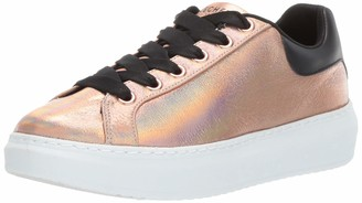 Skechers Women's High Street. Crackled Metallic lace Fashion Sneaker
