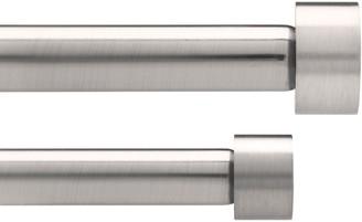 Umbra Adjustable Double Curtain Pole Kit, Nickel, Dia.16/19mm