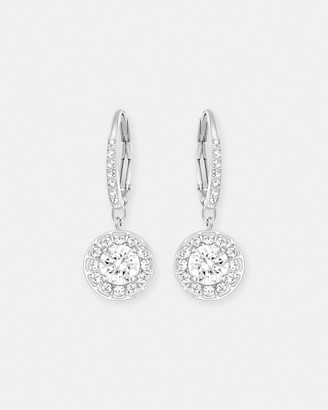 Swarovski Attract Light Silver Earrings with Crystals