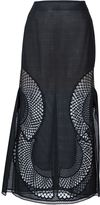 Stella McCartney perforated A-line skirt - women - Cotton/Polyester - 42
