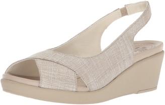 Crocs Women's Leigh Ann Shimer Slngbck WDG W Wedge Sandal
