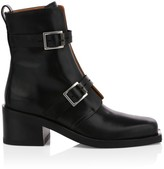 Rag & Bone Fallon Buckle Leather Moto Boots